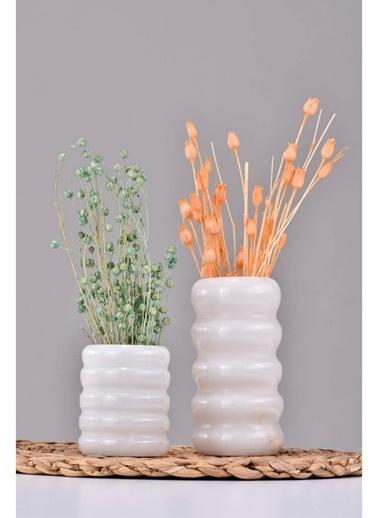 Gaya Stone Vazo Beyaz